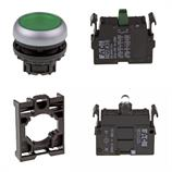 Set article illuminated pushbutton Eaton M22-DL-G/-A/-LED-G/-K10