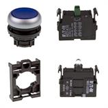 Set article illuminated pushbutton Eaton M22-DL-B/-A/-LED230-B/-K10