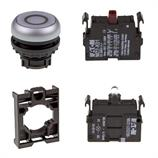 Set article illuminated pushbutton Eaton M22-DL-W-X0/-A/-LED230-W/-K01