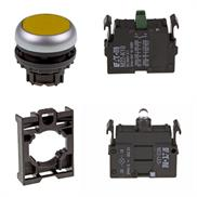 Set pulsante luminoso Eaton M22-DL-Y/-A/-LED-W/-K10