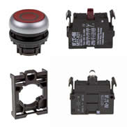 Set article illuminated pushbutton Eaton M22-DL-R-X0/-A/-LED-R/-K01