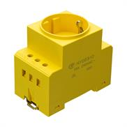 Control cabinet receptacle Hongfa - HY1DES1D - YE/LED