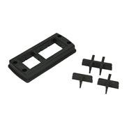 Multiple cable entry set CONTA-CLIP KDS-Set 10/24 BK - 28605.4