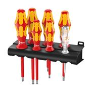 Screwdriver set Wera Kraftform Plus Serie 100 160i/7 Rack - 05006147001