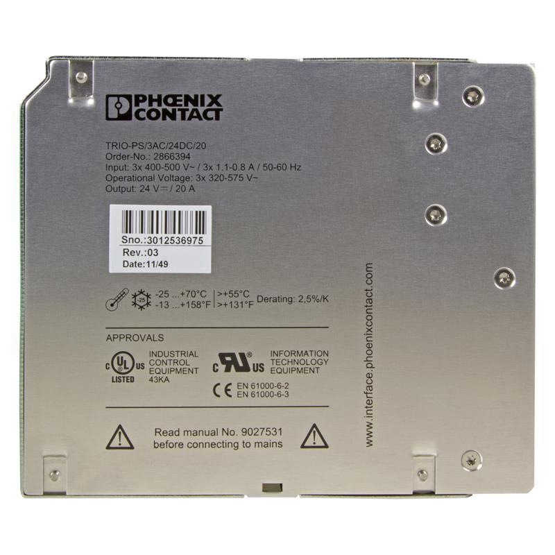 Alimentatore switching PHOENIX 2866394 - TRIO-PS/ 3AC/24DC/20