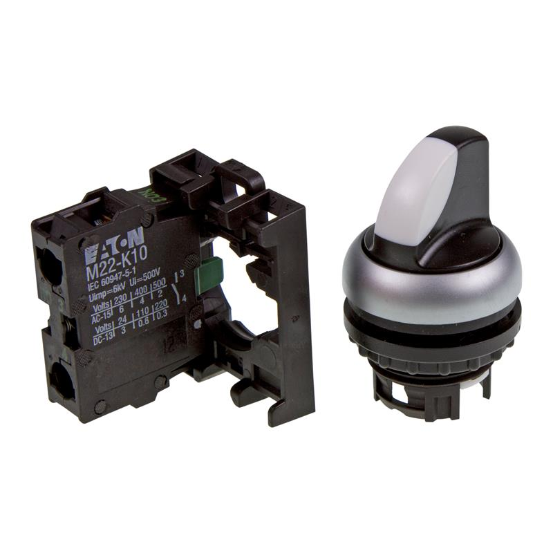 Selector switch complete device Eaton 216518 - M22-WRK/K10