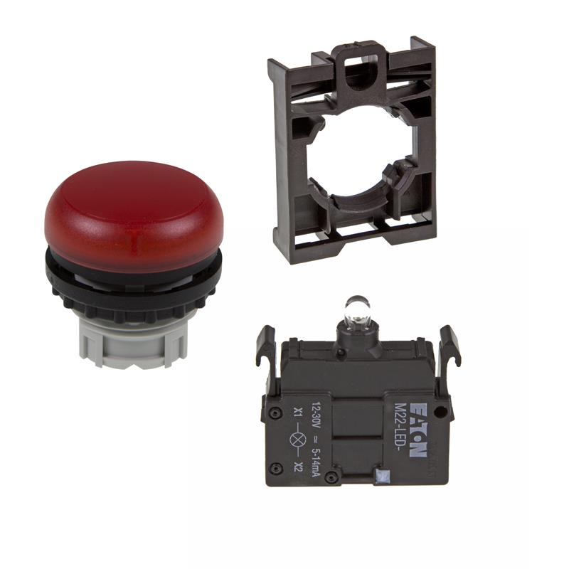 Set article light indicator (red) Eaton M22-L-R/-A/-LED-R