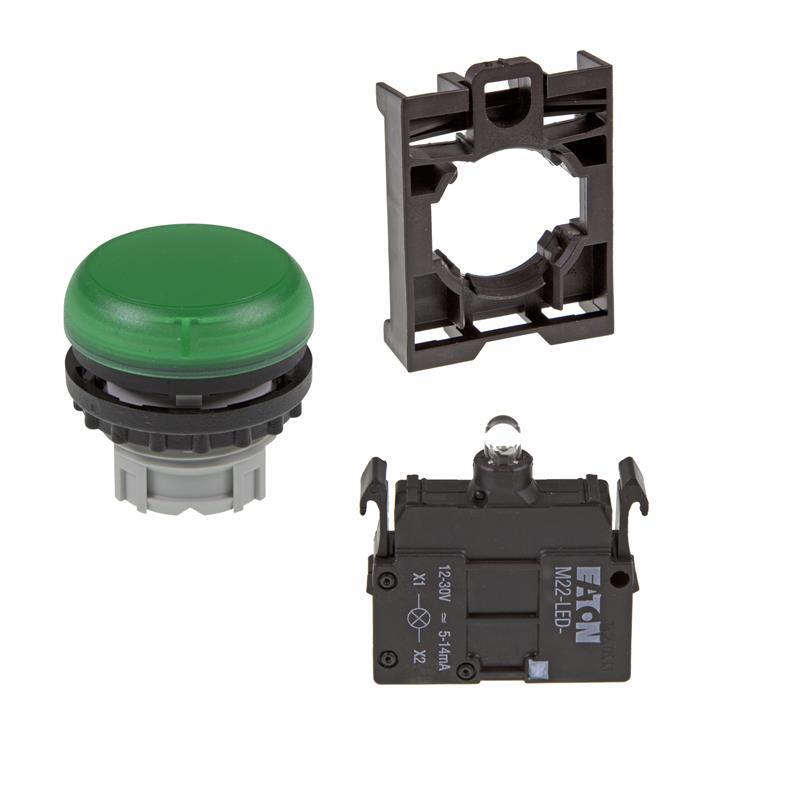 Set article light indicator (green) Eaton M22-L-G/-A/-LED-G