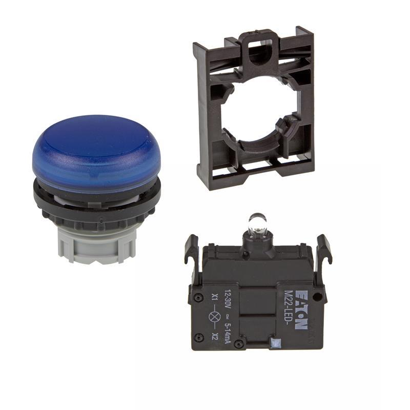 Set article light indicator (blue) Eaton M22-L-B/-A/-LED-B