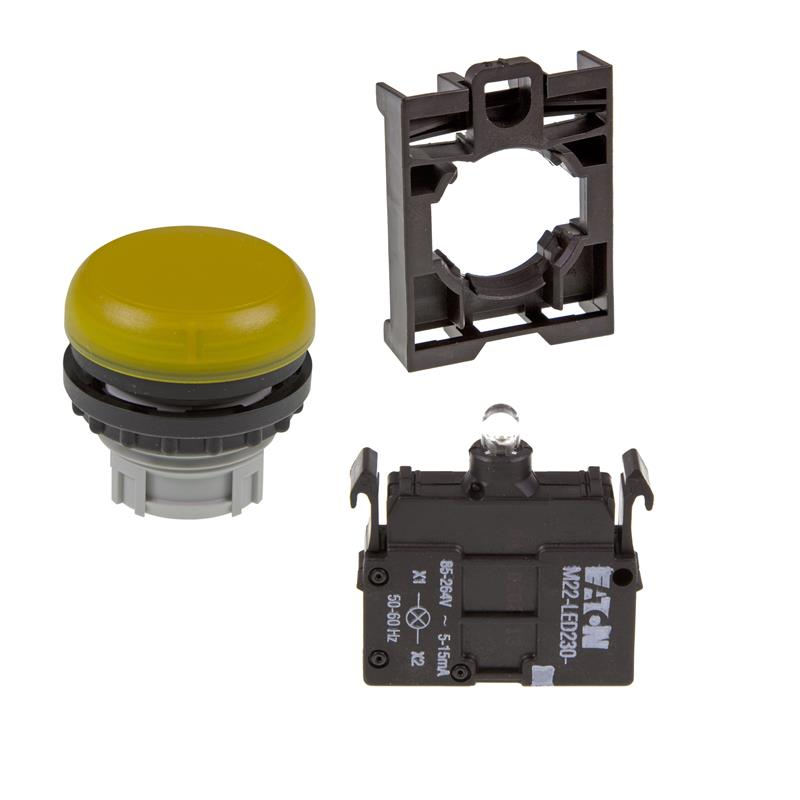 Set article light indicator (yellow) Eaton M22-L-Y/-A/-LED230-W