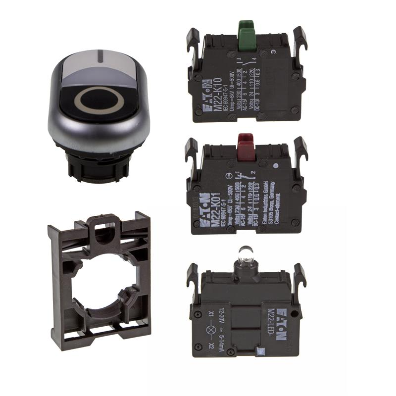 Set article double actuator Eaton M22-DDL-WS-X0/X1/-A/-LED-W/-K10/-K01