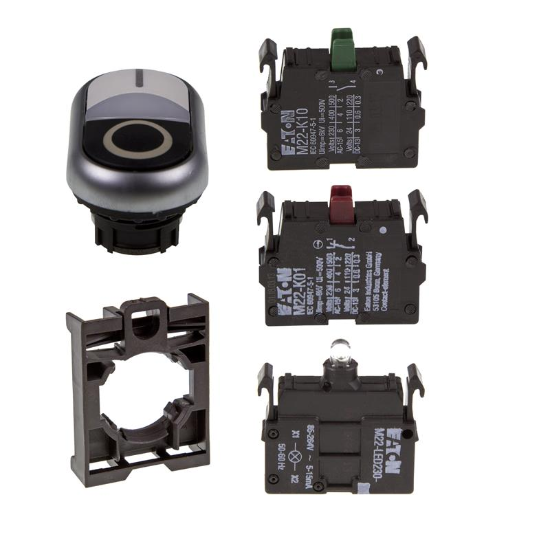 Set article double actuator Eaton M22-DDL-WS-X0/X1/-A/-LED230-W/-K10/-K01