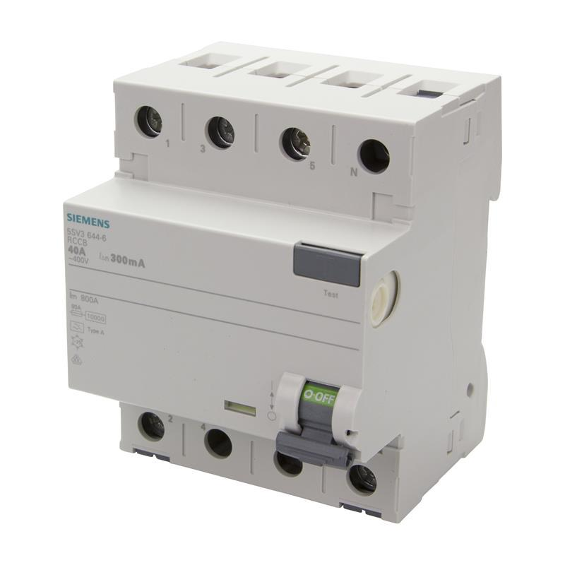 Residual current circuit breaker siemens 5sv3644 6 for Motor operated circuit breaker