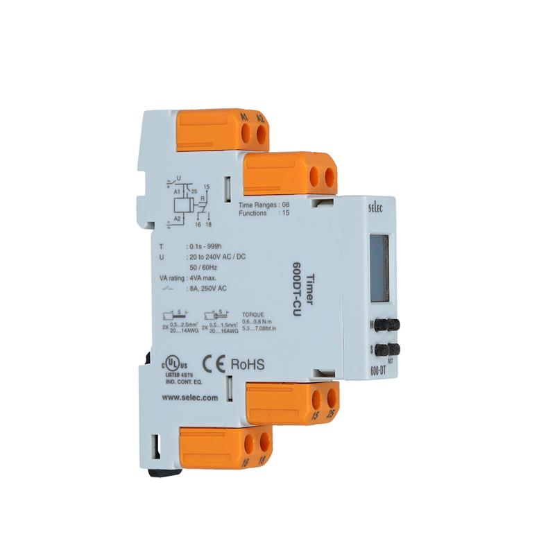 Digital multifunction timer relay Selec 600DT-CU