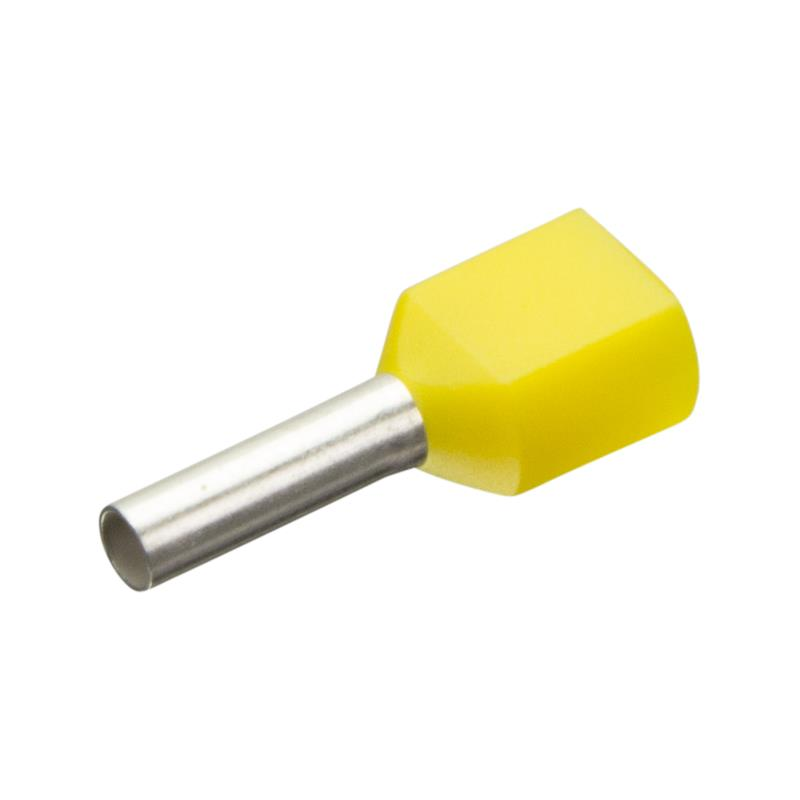Insulated twin wire end ferrules Enghofer E 2x1-8 YE -… | Automation24