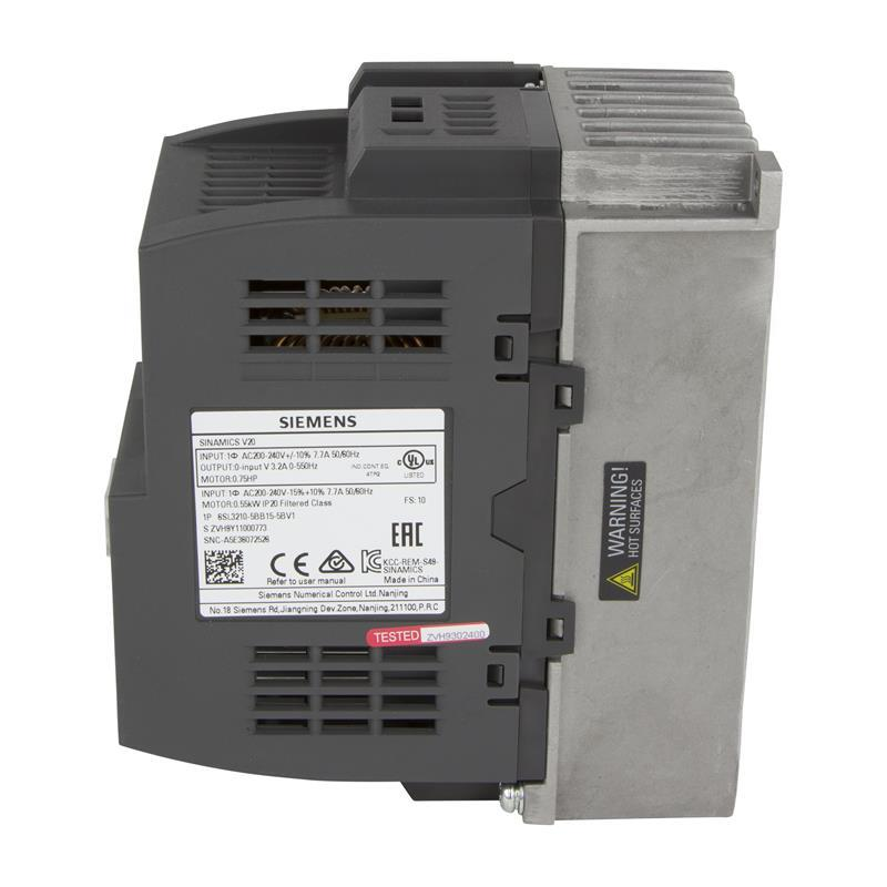 Variable frequency drive Siemens SINAMICS V20 - 6SL3210-5BB15-5BV1