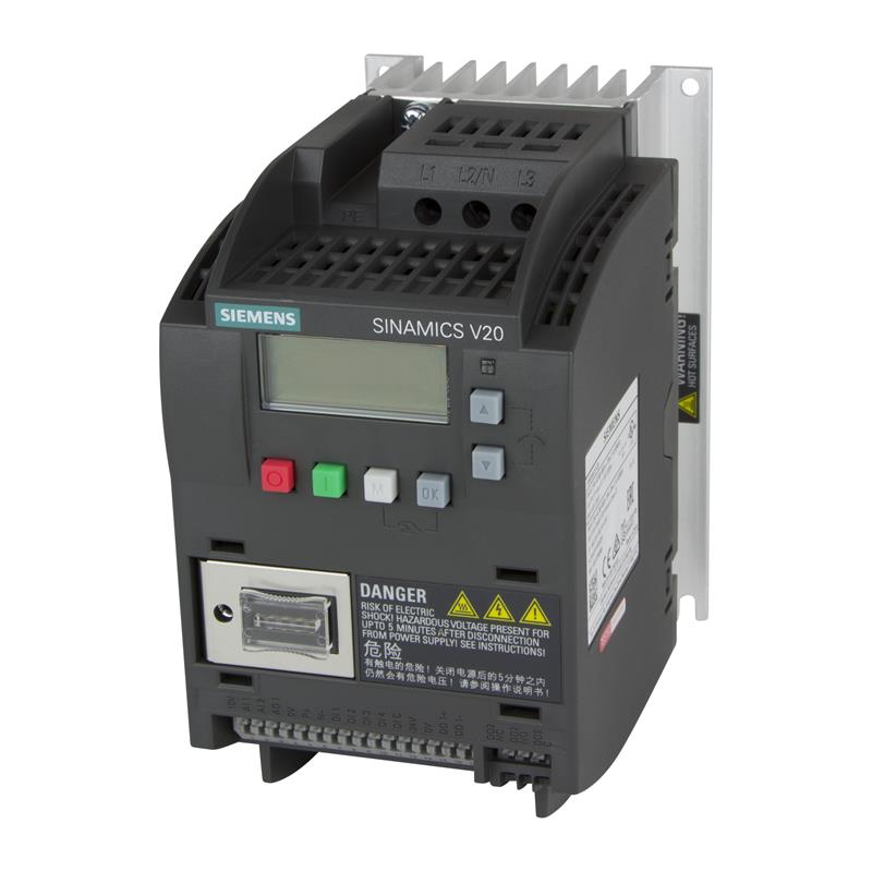 Variable frequency drive Siemens SINAMICS V20 - 6SL3210-5BE15-5CV0