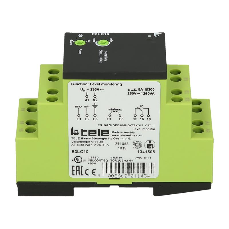 Level monitoring relay TELE E3LC10 230V AC - 1341505