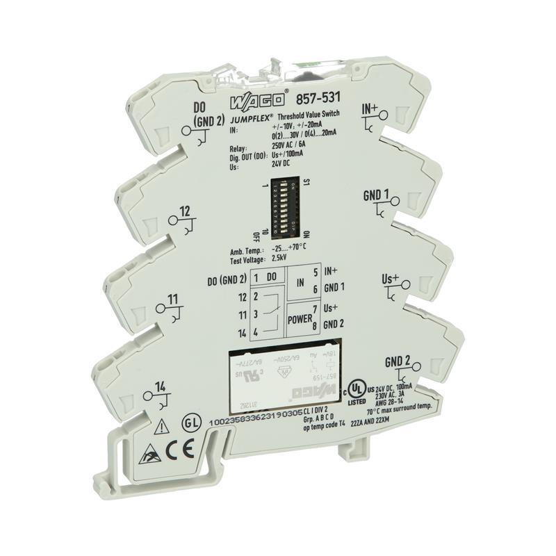 Threshold value switch for analogue signals WAGO 857-531