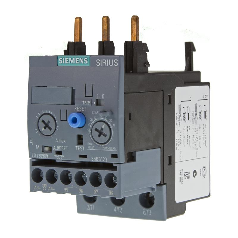 Overload relay siemens sirius 3rb3123 4pb0 automation24 Motor overload relay