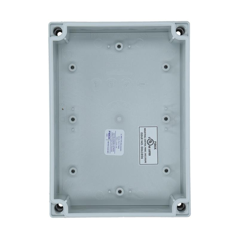 Polycarbonate Enclosure FIBOX MNX UL PCM 150/125 G - 6416316