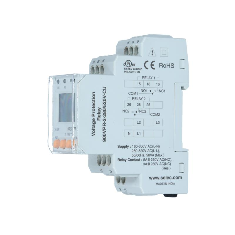 Digital Voltage protection relay Selec 900VPR-2-280/520V-CU