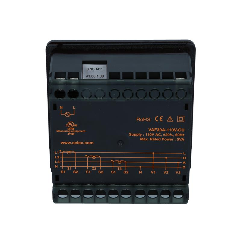 Voltage Current Frequency Meter Selec VAF39A-110V-CU