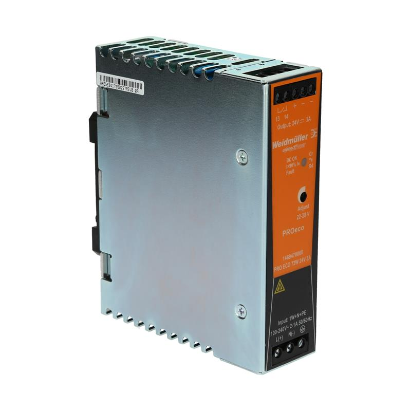 DIN rail power supply Weidmüller PROeco 72W 24V 3A - 1469470000
