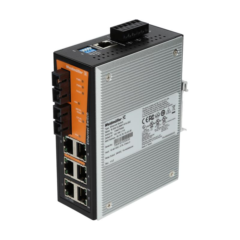 Managed ethernet switch Weidmüller IE-SW-VL08MT-6TX-2SC - 1344770000