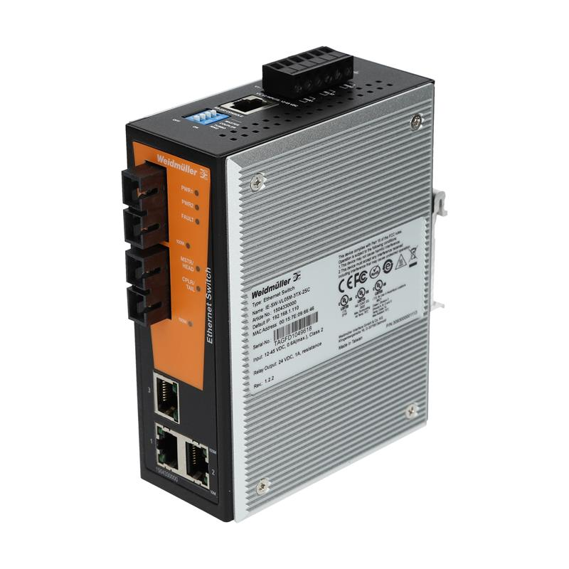 Managed ethernet switch Weidmüller IE-SW-VL05M-3TX-2SC - 1504330000