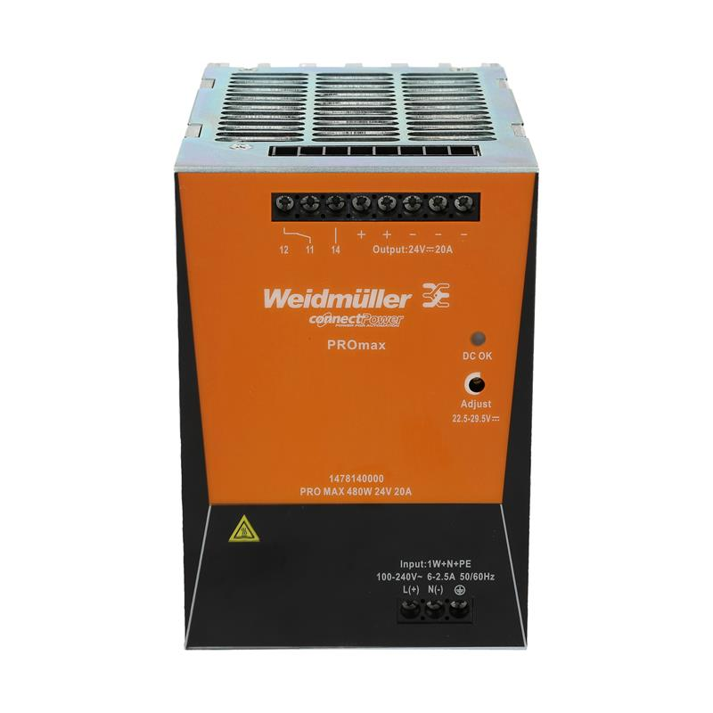 DIN rail power supply Weidmüller PROmax 480W 24V 20A - 1478140000