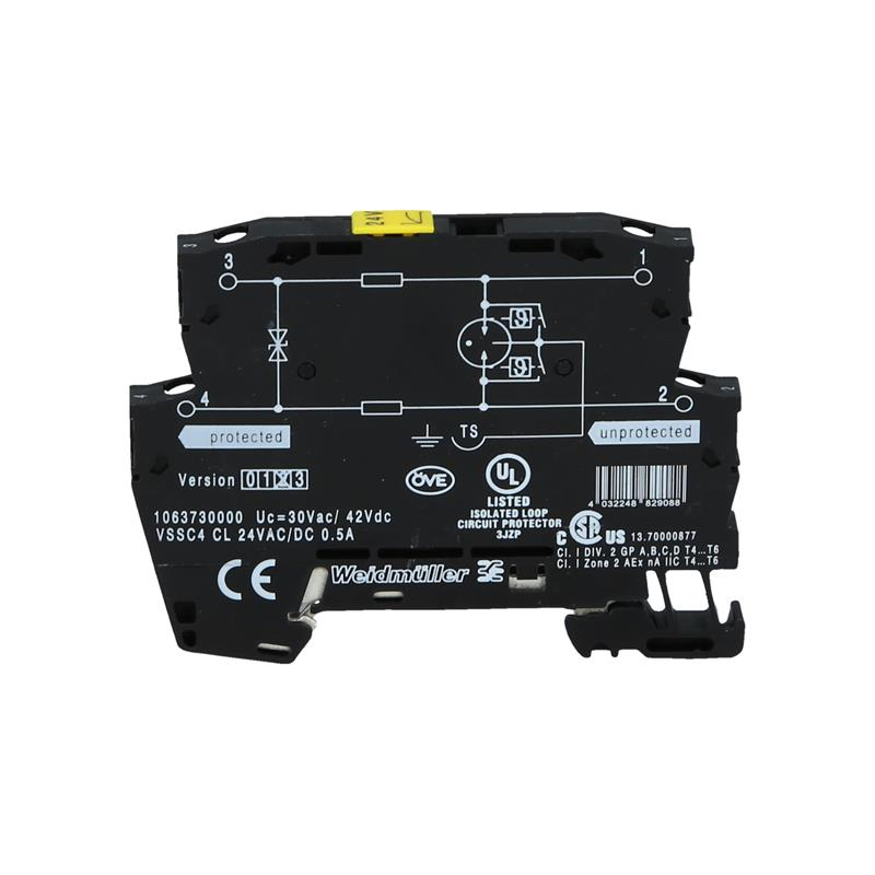 Surge protector Weidmüller VSSC4 CL 24VAC/DC 0.5A - 1063730000