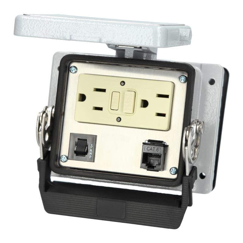 Panel interface connector Mencom GF-RJ45-R-32