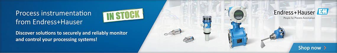 Ad: Process instrumentation from Endress+Hauser