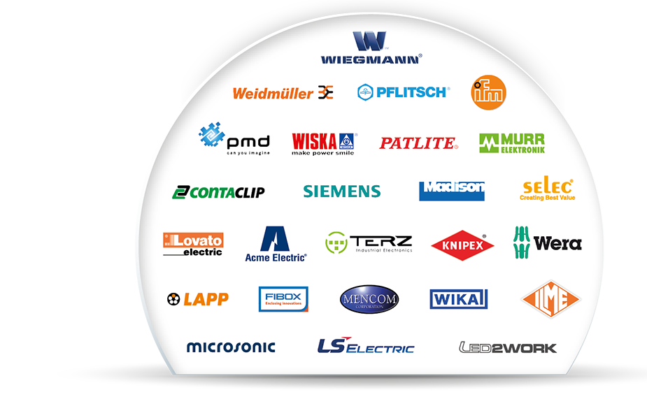 Large selection of leading brands