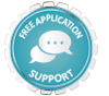 Free application support