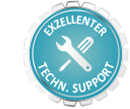 Exzellenter technischer Support