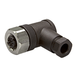 M12 connector female, 4-pole