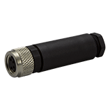 M8 connector female, 4-pole