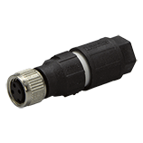 M8 connector female, 3-pole
