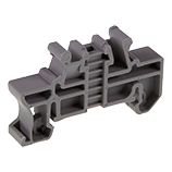 End clamps for terminal blocks