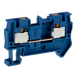 Feed-through terminal blocks, push-in connection