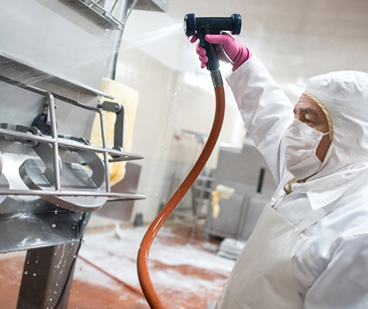 Hygienic cleaning in the food industry